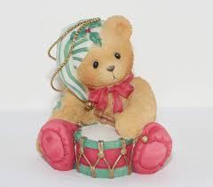 cherished teddies drum hanging ornament