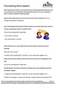 bunch ideas of direct speech punctuation worksheets also free