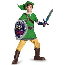 buy the legend of zelda deluxe link costume for boys