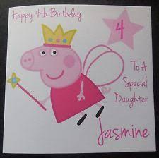 peppa pig age 3 birthday card ebay