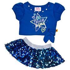 clothes for build a justice blue sequin skirt 2 pc build a workshop us