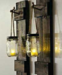 Shabby Chic Wall Sconces Sconce Wooden Wall Sconces For Candles 2x Large 60cm Rustic
