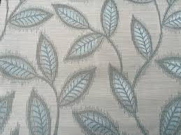 ice blue leaves an fabric by the yard upholstery fabric curtain