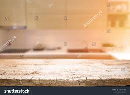 Kitchen Background Wood Desk Space Kitchen Background Product Stock Photo 298160483