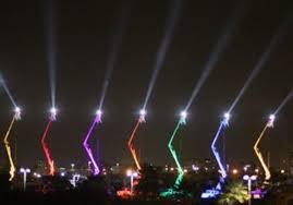 large menorah world s largest menorah lights up tel aviv sky national news