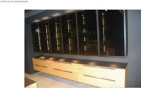 cuisine design toulouse cuisine en bois veritable black line sans poignée mur d armoire