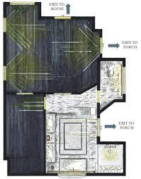Hand Rendered Floor Plan Gaston Master Bath U2014 Virginia Walker