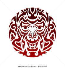 evil face tribal tattoo ornament vector stock vector 325575920