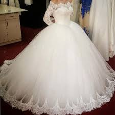 vintage lace long sleeves ball gowns wedding dresses 2018 off