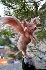 needle felted pigasus tree ornament by darialvovsky