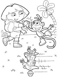 signs success dora boots coloring pages dora