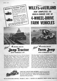vintage jeep ad cj 3a farm jeep and jeep tractor
