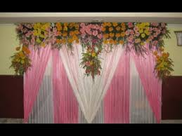 Christian Wedding Car Decorations Simple Wedding Stage Decoration At Home Youtube