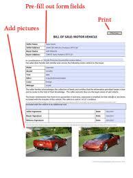 car bill of sale free blank form