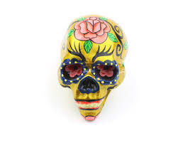 Small Sugar Skull Decor Hand Painted Skull Mexican Sugar Skull