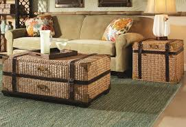 cubes wicker storage coffee table small chest round solid wood is