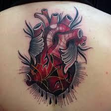 new traditional 3d heart tattoo design kmxwtattoo