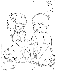 nature activities images Spring coloring pages kids spring nature activities coloring gif