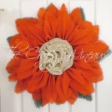 burlap sunflower wreath rich tangerine burlap sunflower wreath the crafty wineaux