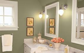 green wall paint olive green wall color with metal wall sconces for small bathroom