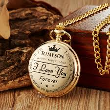quartz necklace watch images Quartz pocket chain watch to my son necklace watches golden clock jpg