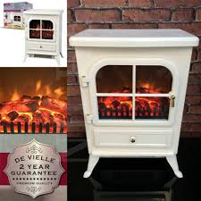 Small Bedroom Gas Heaters Cream Electric Stove Traditional Fire Flame Effect Fan Classic