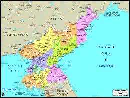 Korea Map Asia by North Korea Political Wall Map Maps Com