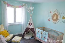 Yellow Curtains Nursery by Little A U0027s Sunny Woodland Nursery U2013 Our Diy House The Diy Mommy