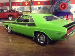 Dodge Challenger Green - sublime green 1970 dodge challenger t a under glass model cars