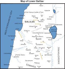 Ancient Middle East Map by Map Of Lower Galilee Bible History Online