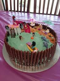 lego friends beach cake i made cakes pinterest beach cakes