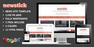 28 responsive html5 magazine website templates