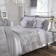 silver roma damask duvet cover dunelm home comforts