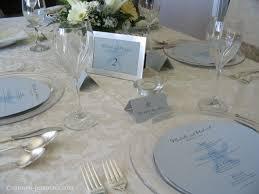 Blue Table Menu Reception Stationery Round Menus Circle Menu Circular Wedding