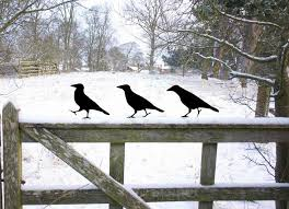garden lawn ornaments metal ravens for bird