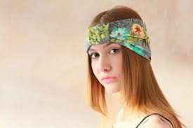 hippy headband workout headband turban headband fabric headband boho headband