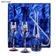 Wine Set Gifts Aliexpress Com Buy Crystal Wine Set Gifts Glass Wine Set Wedding