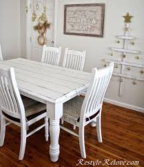 chalk paint farmhouse table faux plank farmhouse table