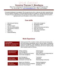Sample Marketing Assistant Resume Virtual Resume Samples Resume For Your Job Application