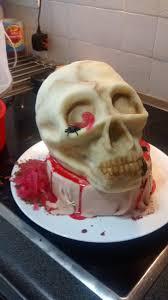 gory halloween skull cake imgur