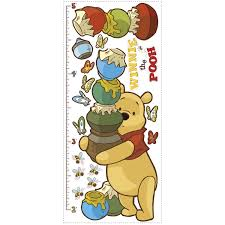amazon com roommates rmk1501gc pooh and friends peel u0026 stick