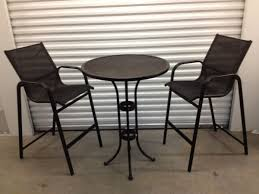 Patio High Chairs Patio Furniture High Top Table And Chairs Popular With Image Of