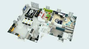 plan de maison de plain pied avec 4 chambres plan maison plain pied 4 chambres 3d lovely plan de maison simple 3