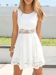 short sleeveless white dresses dresshead