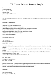 driver resume objective 11 summary of qualifications for truck