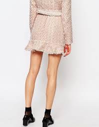 tweed skirt pink lemonade tweed skirt co ord with frill