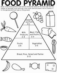awesome food pyramid coloring ideas printable coloring