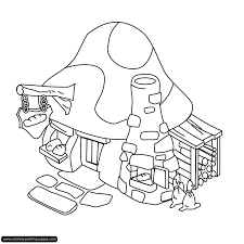 smurf house coloring page kids drawing and coloring pages marisa