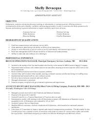 Sample Resume Administrative Support by Shelly Bevacqua Resume Administrative Assistant
