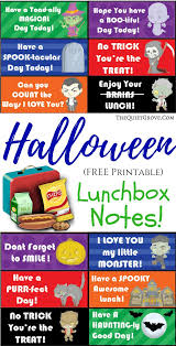 halloween lunchbox jokes and notes halloween printable note and